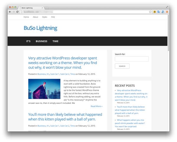 BuSo Lightning - The Fastest Wordpress Theme | Builder Society